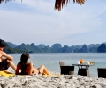 Relaxing at Soi Sim Beach - Halong Bay