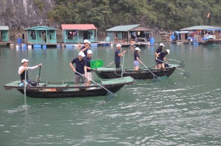 V'Spirit Cruises Green Spirit Clean up Halong Bay