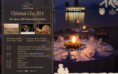 The space of Vietnamese Culture December 24, 2014 Time: 19:30 – 23:30 Location: Soi Sim Beach, Soi Sim island Costume: Semi- Formal 19:30 Welcome to the beach of Soi Sim island 19:45 Opening Christmas 'Eve Gala Dinner. Program Introduction 20:00 Time for Special BBQ Buffet Dinner. 21:15 Art performances: Vietnamese traditional music and dances. 22: 30 Games. 22:45 Time to dance 23:15 Lucky draw 23:30 Merry Christmas. Gala Dinner Ends.